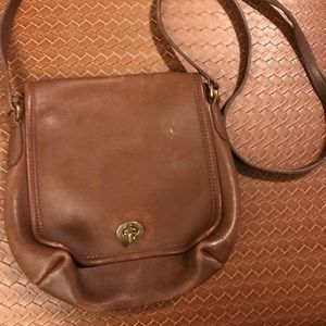 Authentic vintage Coach crossbody brown bag #9076